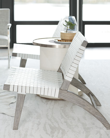 Bernhardt Silas Basket Weave Accent Chair