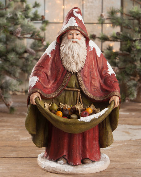 Bethany Lowe Traditional Old World Santa Statue