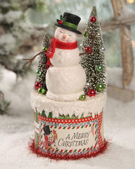Bethany Lowe Retro Snowman on Box