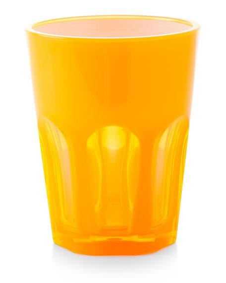 Mario Luca Giusti Double Face Acrylic Tumbler Glass, Orange