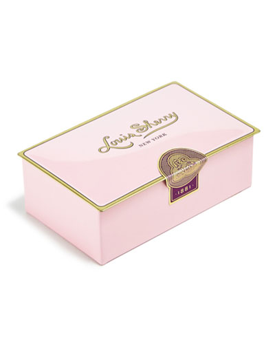 Camellia Pink Two-Piece Chocolate Truffle Tin