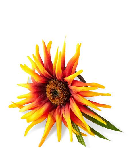 Deborah Rhodes Ombre Sunflower Napkin Ring