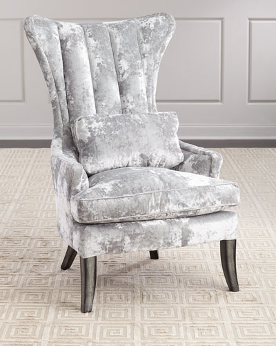 Arlene Channel-Tufted Wing Chair