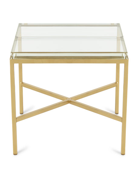 Double Glass Block Bunching Coffee Table