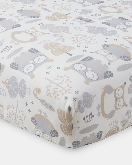 Night Owl Fitted Crib Sheet