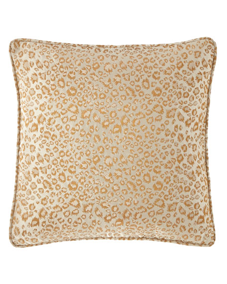 Isabella Collection by Kathy Fielder Margeau Leopard Decorative Pillow