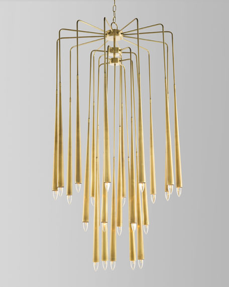 Hans 23-Light Brass Chandelier