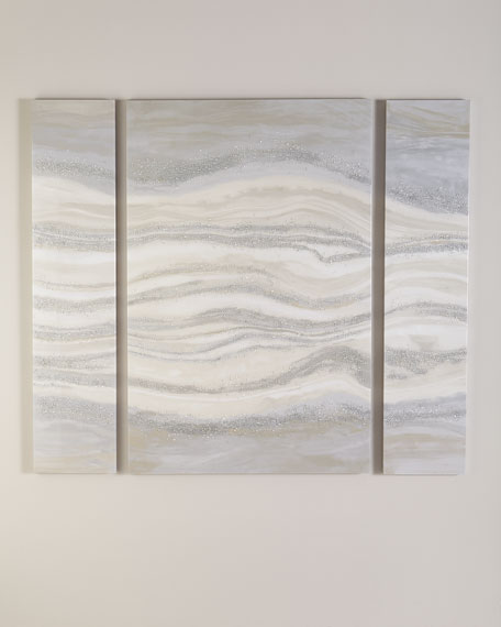 """""""Streaming VI"""" Wall Art Canvases, Set of 3"""