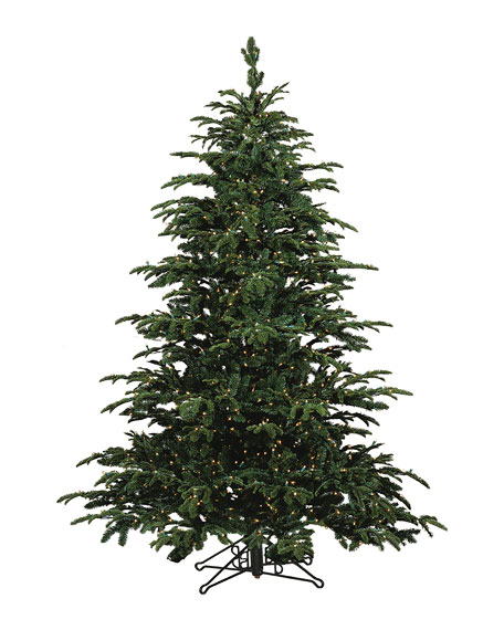 Star Fir Deluxe Glow Warm White LED Christmas Tree, 7.5'