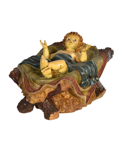 Live Form Small Nativity Baby Jesus Outdoor Christmas Decoration  11.5