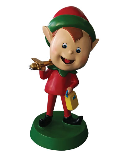 Live Form Elf with Plane Outdoor Christmas Decoration  30