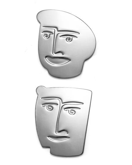 Carrol Boyes Faceoff Coasters, Set Of 2