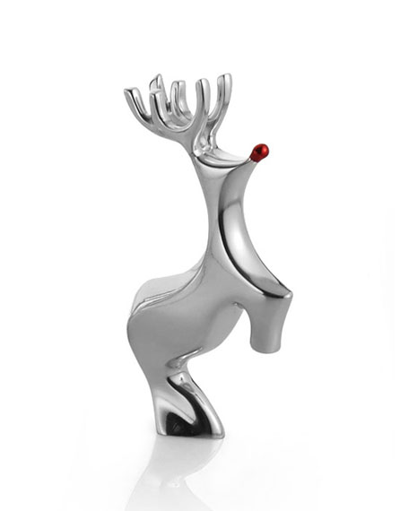 Nambe Holiday Miniature Red-Nosed Reindeer Figurine