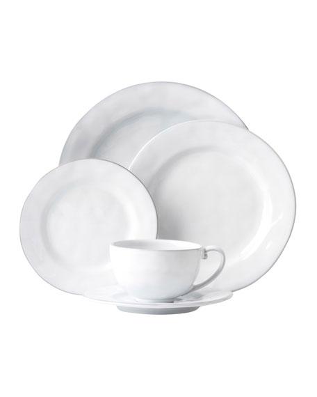 Juliska 5-Piece Quotidien White Truffle Dinnerware Place Setting
