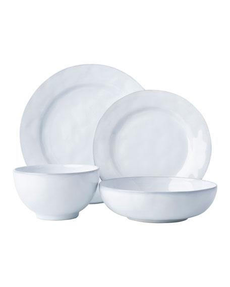 Juliska 4-Piece Quotidien White Truffle Dinnerware Place Setting