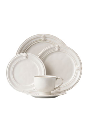 Juliska 5-Piece Acanthus Whitewash Dinnerware Place Setting