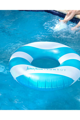 Funboy Neiman Marcus Striped Tube Pool Float