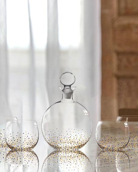 Confetti 5-Piece Whiskey Decanter Set