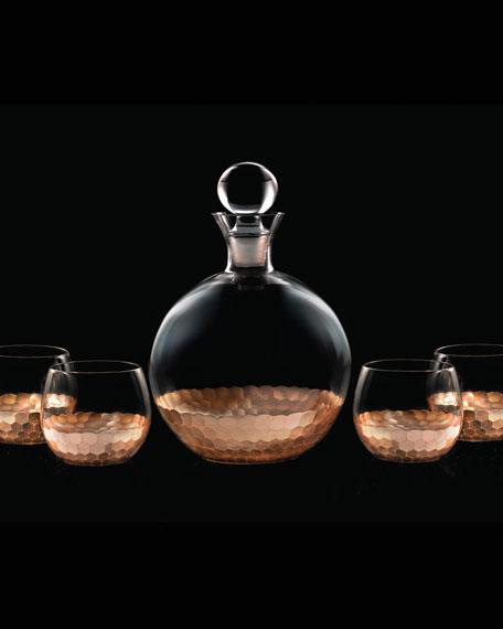 Daphne 5-Piece Round Decanter Set, Copper