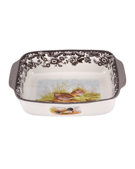 Spode Woodland Rabbit/Quail Rectangular Handled Tray