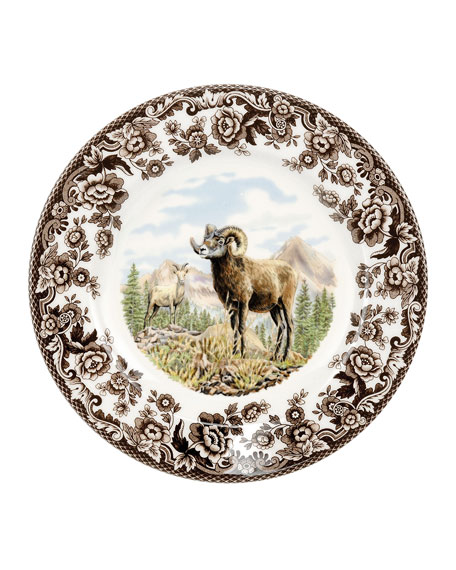 Spode Woodland Bighorn Sheep Salad Plate