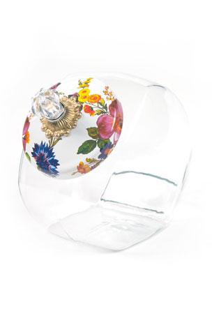 MacKenzie-Childs White Flower Market Cookie Jar