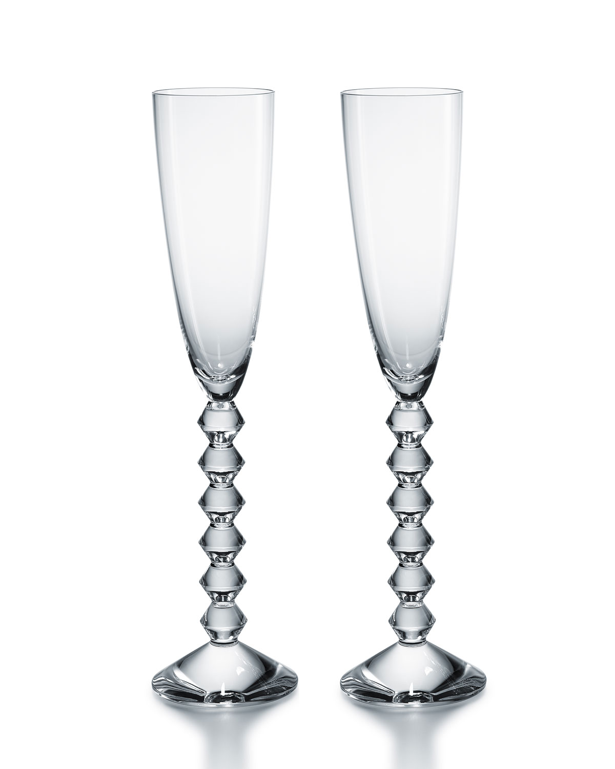 Baccarat Two Vega Flutissimo Champagne Flutes, Clear
