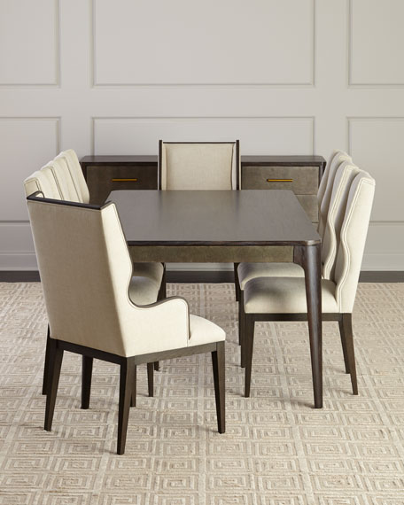 Townes Leather-Trim Dining Table