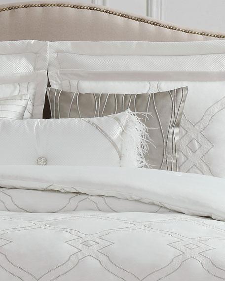 Charisma Dianti Square Faux-Leather Decorative Pillow