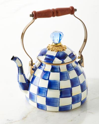 Royal Check 2-Qt. Tea Kettle