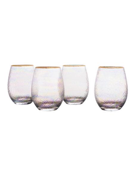 Celine Gold Stemless Wine Goblets, Set of 4