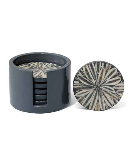 Image 1 of 2: LADORADA Almendro Coaster Set, Gray