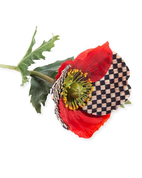 MacKenzie-Childs Courtly Check Poppy Decoration