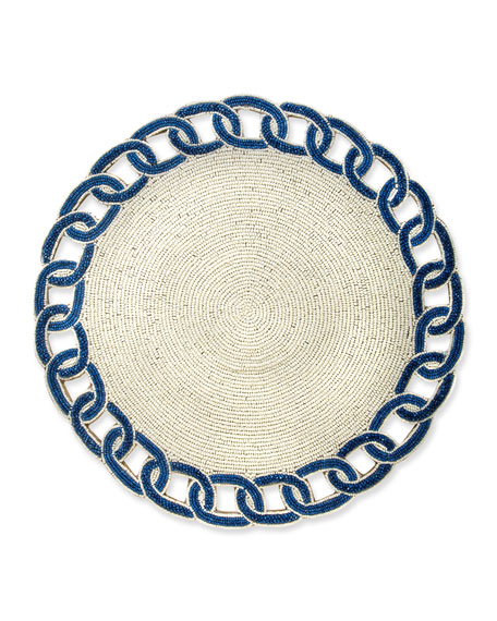MacKenzie-Childs Nautical Link Placemat, Royal