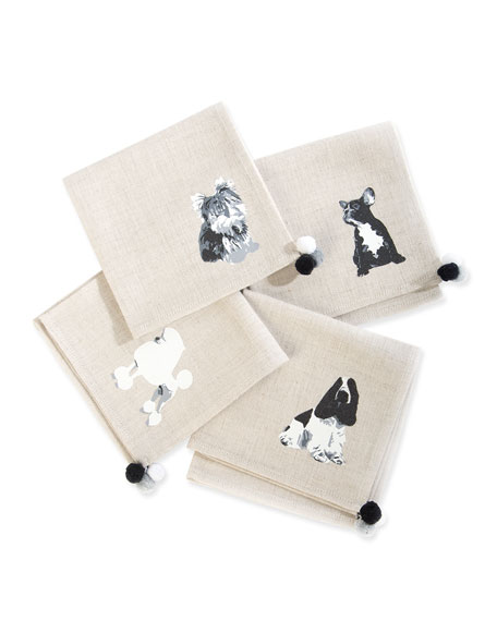 MacKenzie-Childs Hair of the Dog Cocktail Napkins, Set of 4