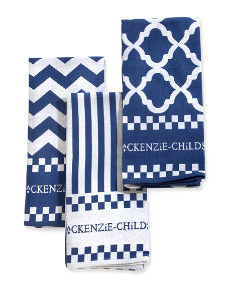 MacKenzie-Childs Zigzag Dish Towels, Set of 3