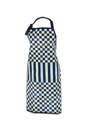 MacKenzie-Childs Royal Check Bistro Apron