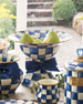 MacKenzie-Childs Royal Check Large Compote