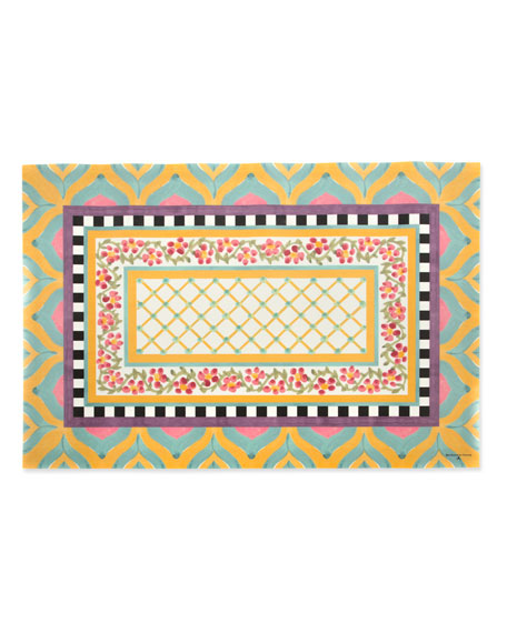 MacKenzie-Childs Hitchcock Field Floor Mat, 2' x 3'