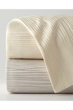Donna Karan Home Reflection Full/Queen Jacquard Stripe Duvet Cover