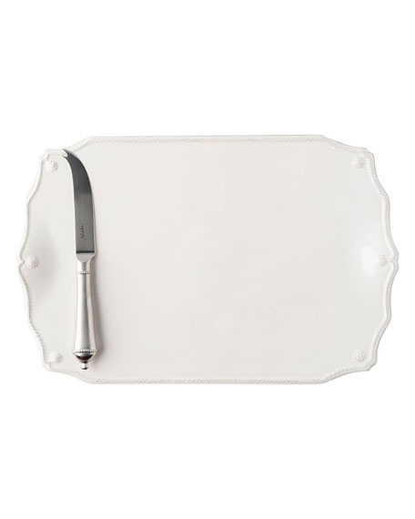 Juliska Berry and Thread Whitewash Serving Board with Knife