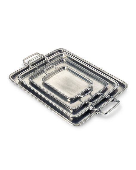 Match Small Rectangle Tray with Handles
