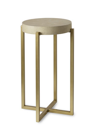 Century Furniture Kendall Faux-Shagreen Accent Table