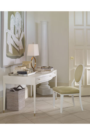 Century Furniture Monroe Faux-Shagreen Writing Desk