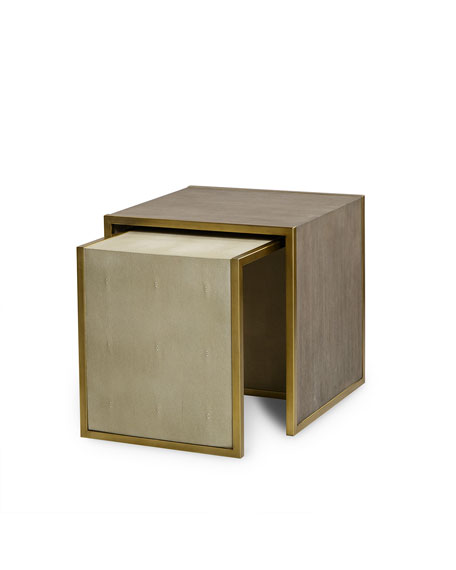 Century Furniture Kendall Faux-Shagreen Nesting Tables