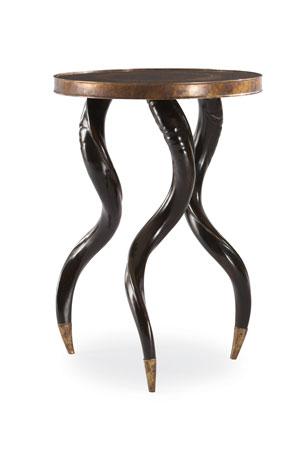 Century Furniture Ebony Chair Side Accent Table