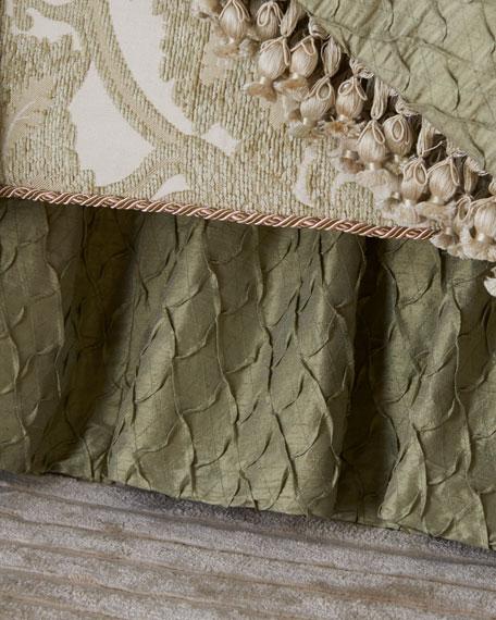 Austin Horn Collection Anastasia Shirred Queen Dust Skirt
