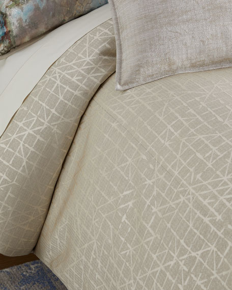 Fino Lino Linen & Lace Chevrille Queen Duvet