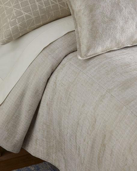 Fino Lino Linen & Lace Inessa Queen Coverlet