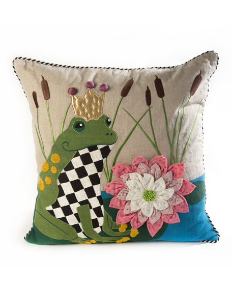 Image 1 of 2: MacKenzie-Childs Frog Pillow